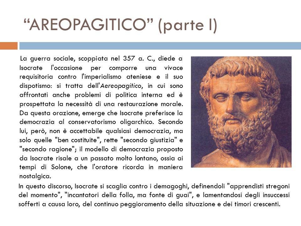 AREOPAGITICO (parte I) La guerra sociale, scoppiata nel 357 a.