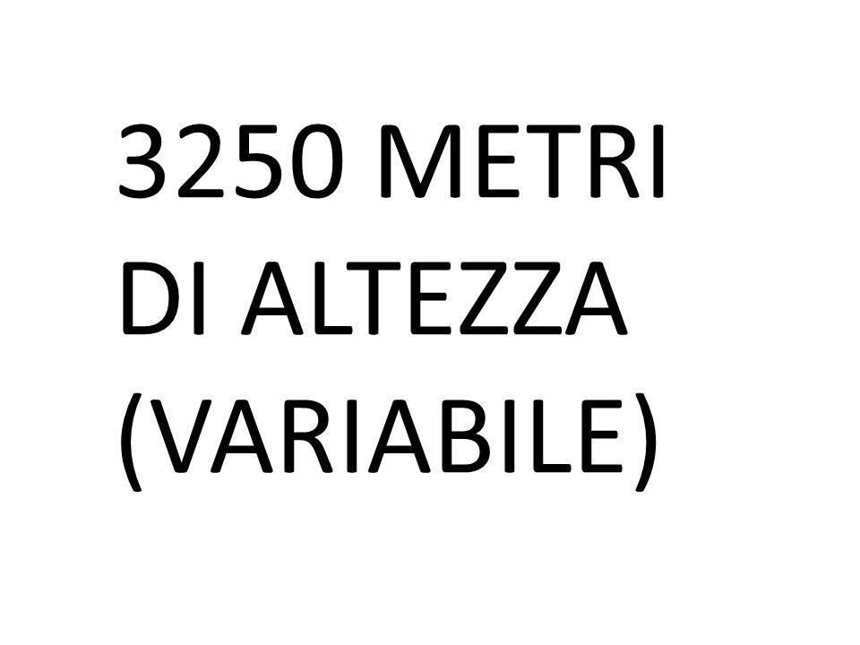 3250 METRI DI ALTEZZA (VARIABILE)