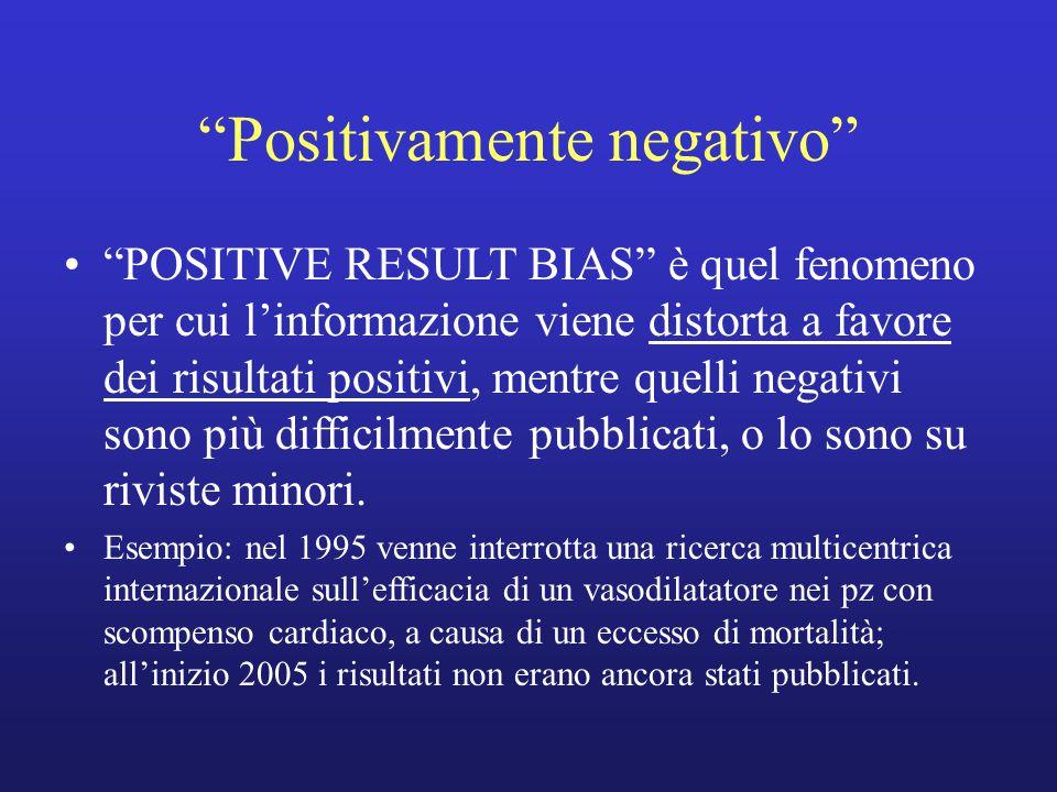 """""""POSITIVE RESULT BIAS"""" è quel fenomeno per cui l'informazione viene distorta a favore dei risultati positivi, mentre quelli negativi sono più difficil"""