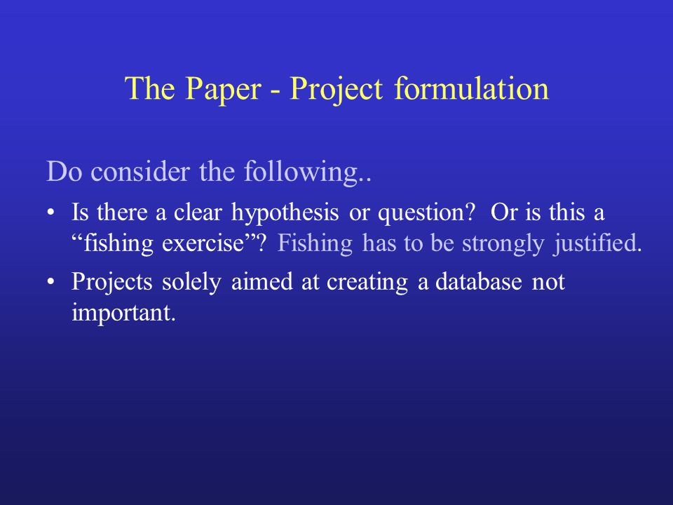 Writing your thesis Objectives & Significance Summarise –the objective(s) of the project.