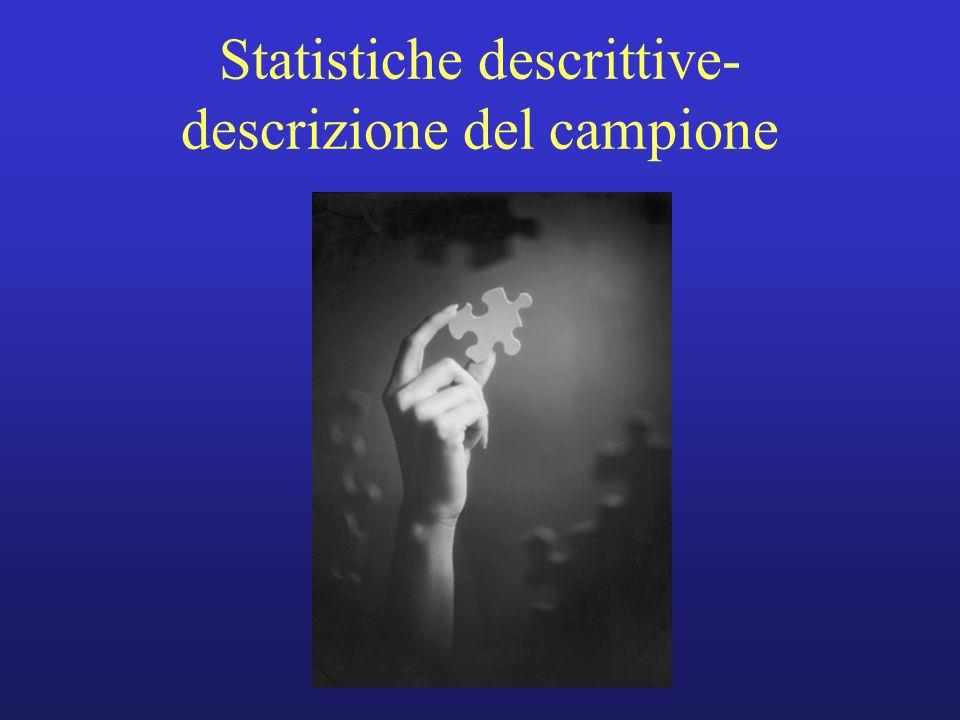 Statistiche descrittive- descrizione del campione