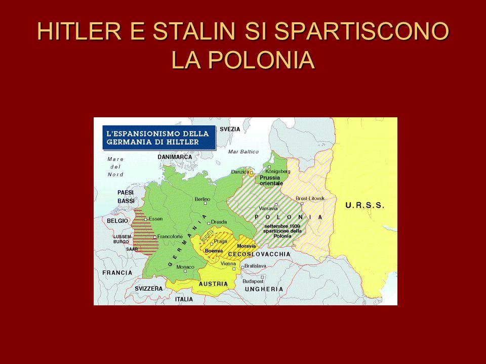 HITLER E STALIN SI SPARTISCONO LA POLONIA