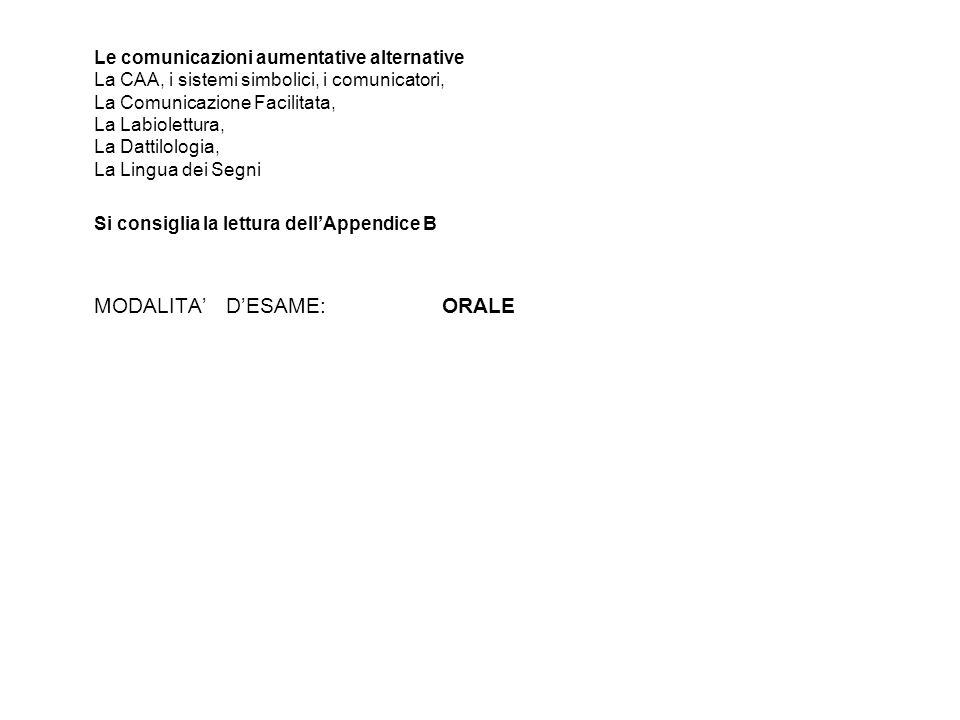 Le comunicazioni aumentative alternative La CAA, i sistemi simbolici, i comunicatori, La Comunicazione Facilitata, La Labiolettura, La Dattilologia, L