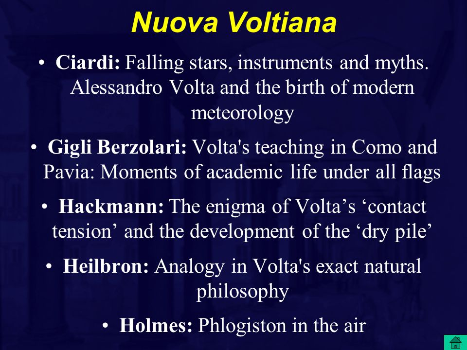 Nuova Voltiana Ciardi: Falling stars, instruments and myths.