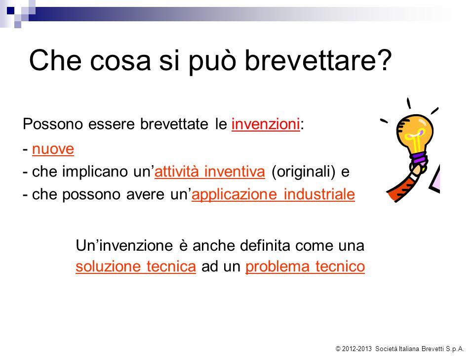 Procedura di brevettazione Procedure disponibili Domanda di brevetto europeo © 2012-2013 Società Italiana Brevetti S.p.A.