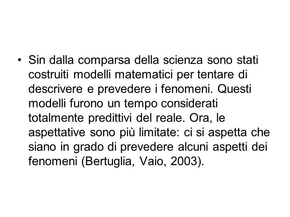 Sin dalla comparsa della scienza sono stati costruiti modelli matematici per tentare di descrivere e prevedere i fenomeni. Questi modelli furono un te