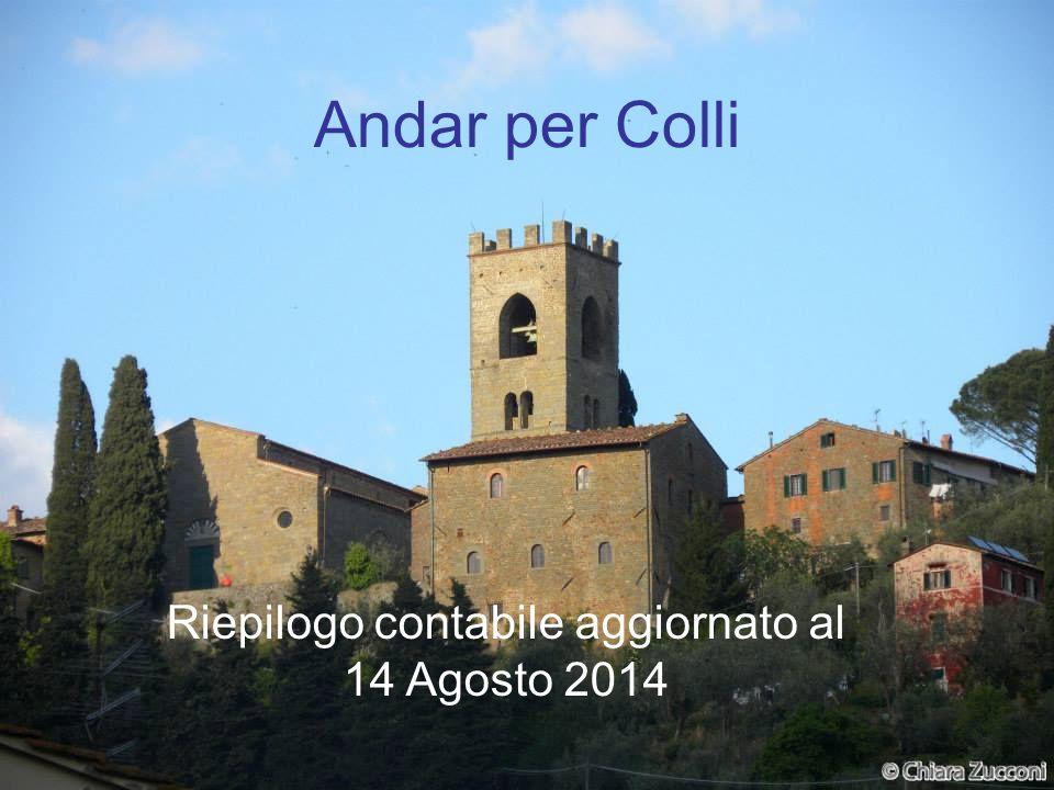 Andar per Colli Riepilogo contabile aggiornato al 14 Agosto 2014