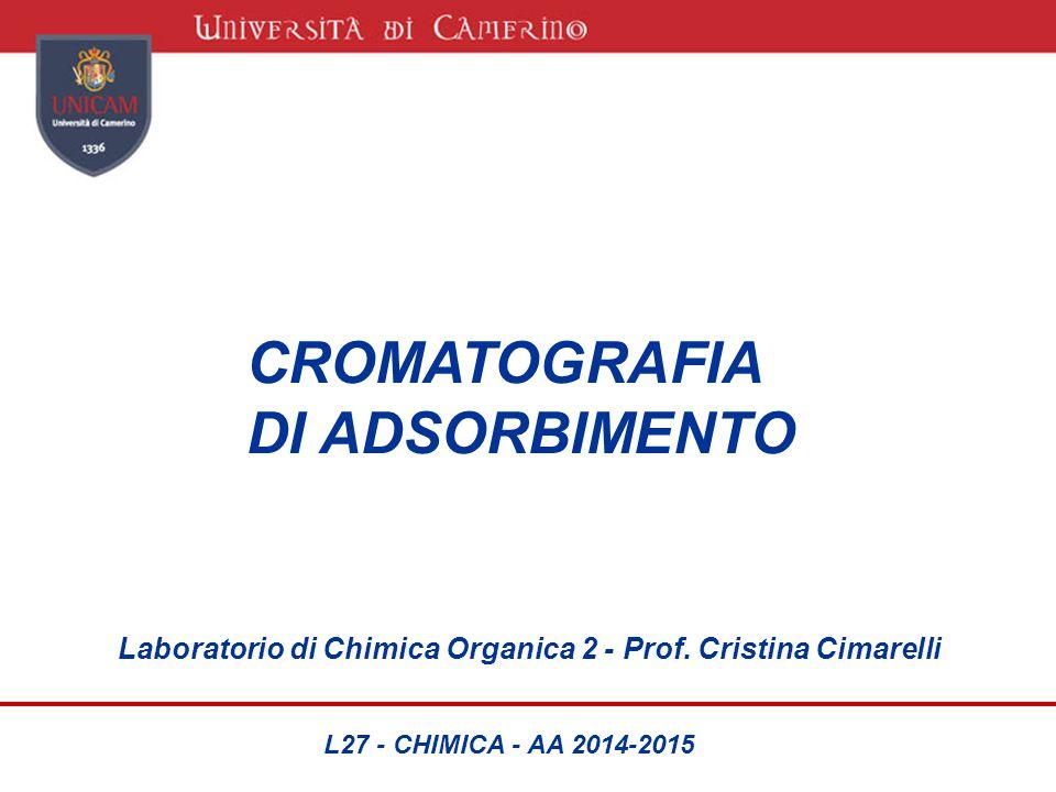 CROMATOGRAFIA DI ADSORBIMENTO Laboratorio di Chimica Organica 2 - Prof. Cristina Cimarelli L27 - CHIMICA - AA 2014-2015