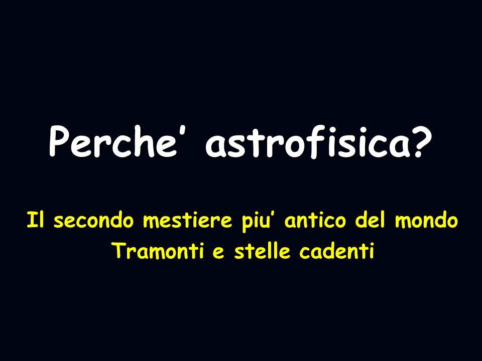 Perche' astrofisica? Il secondo mestiere piu' antico del mondo Tramonti e stelle cadenti