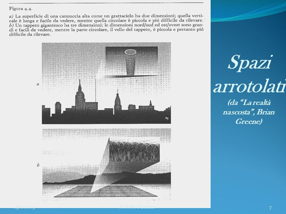 La schiuma spaziotemporale (da La realtà nascosta , Brian Greene) 15/10/2013 Rodolfo Damiani8
