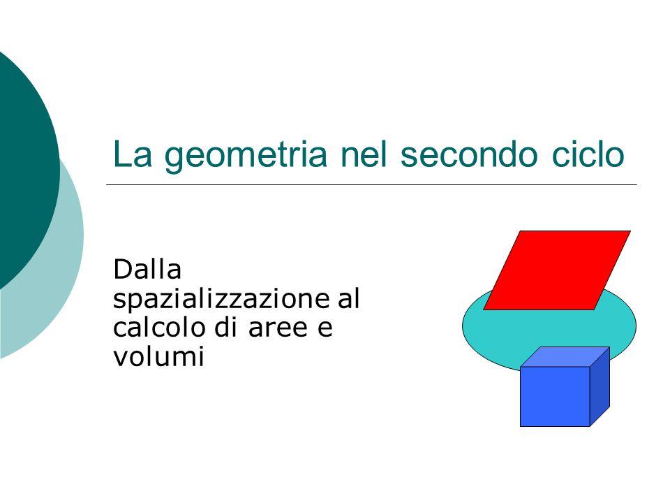 La geometria nel secondo ciclo Dalla spazializzazione al calcolo di aree e volumi