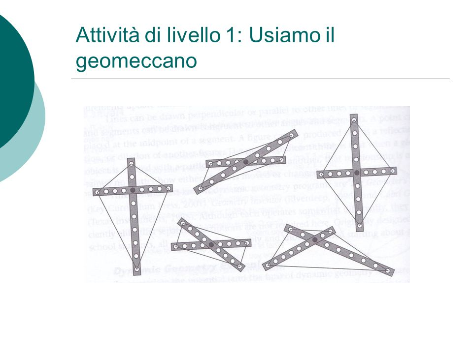 Attività di livello 1: Usiamo il geomeccano