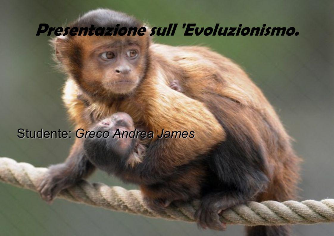 Presentazione sull 'Evoluzionismo. Studente: Greco Andrea James
