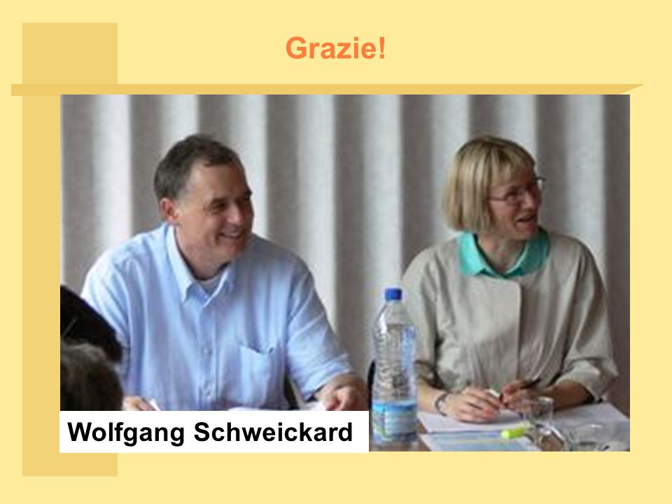 Grazie! Wolfgang Schweickard
