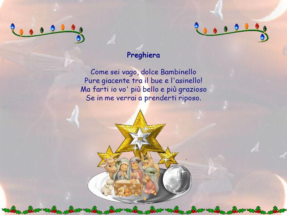 16 dicembre LA CULLA Preparerò una comoda culla al Dio Bambino con atti di profonda umiltà: mai una parola in mia lode, mai un pensiero assecondato di superbo compiacimento, non mi scuserò, non mi ostinerò nel mio parere, non inventerò pretesti per salvare il mio amor proprio; ripeterò spesso quella frase che ha formato i santi: Dallo zero in su, tutto è di Dio - dallo zero in giù son proprio io .