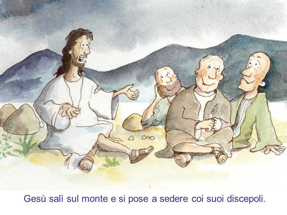 Gesù passò all'altra riva del lago di Galilea. Lo seguiva una gran folla perché vedevano i prodigi che faceva sugli infermi.