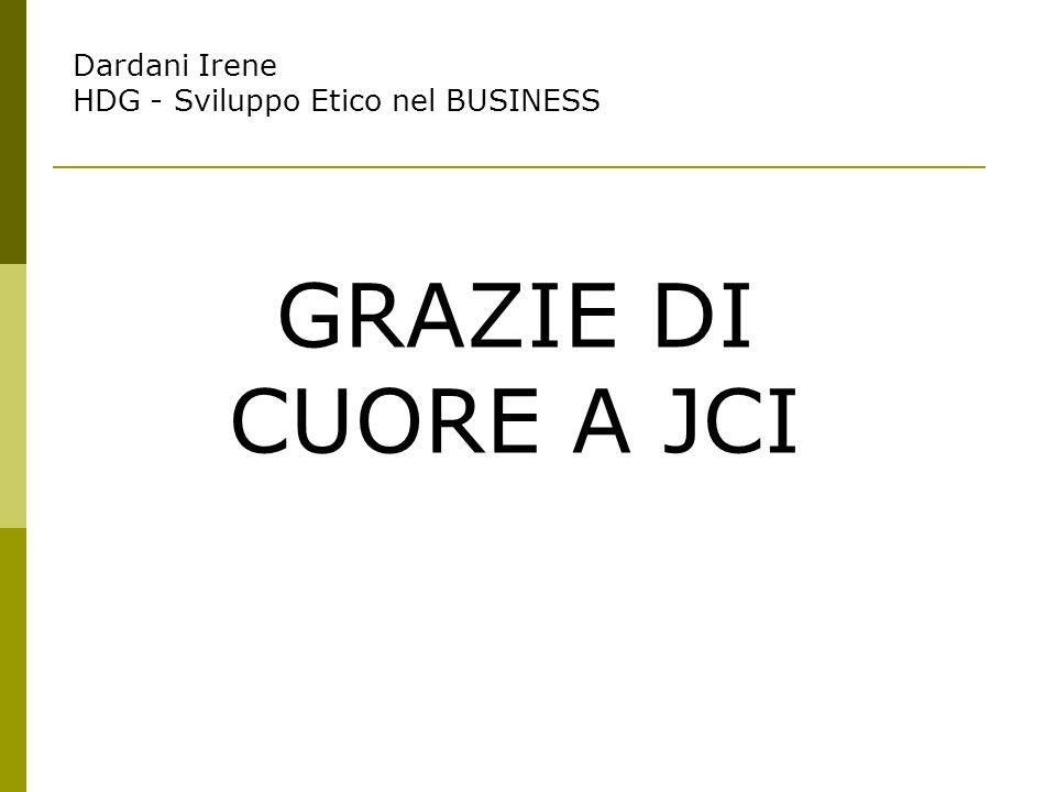 Dardani Irene HDG - Sviluppo Etico nel BUSINESS GRAZIE DI CUORE A JCI