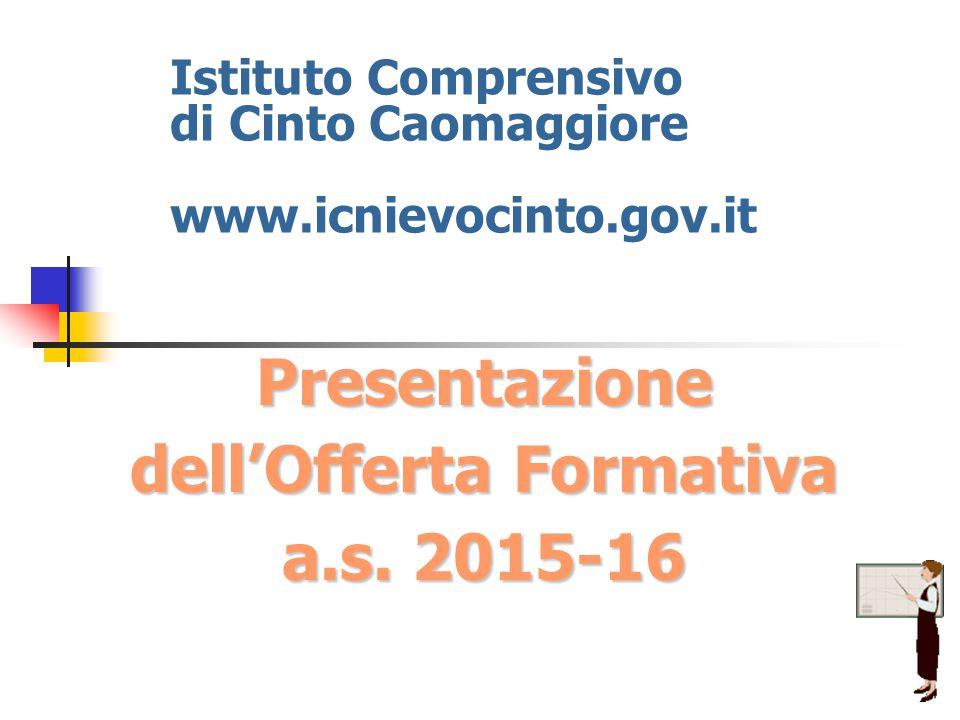 Presentazione dell'Offerta Formativa a.s. 2015-16 Istituto Comprensivo di Cinto Caomaggiore www.icnievocinto.gov.it