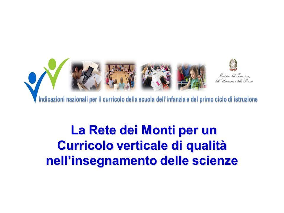 La Rete dei Monti per un Curricolo verticale di qualità nell'insegnamento delle scienze