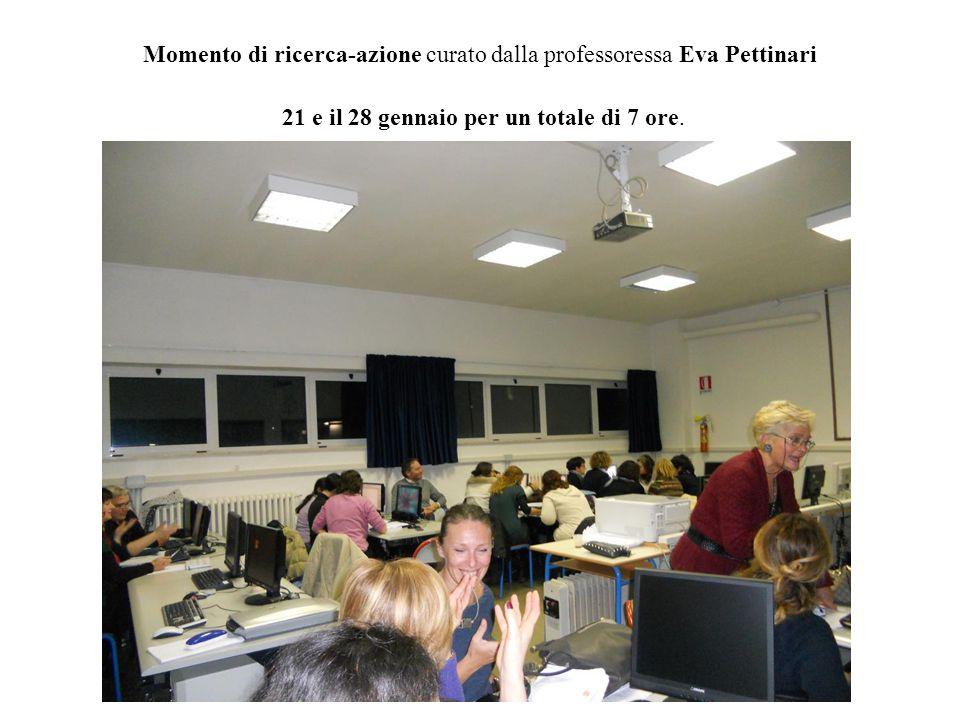 Momento di ricerca-azione curato dalla professoressa Eva Pettinari 21 e il 28 gennaio per un totale di 7 ore.