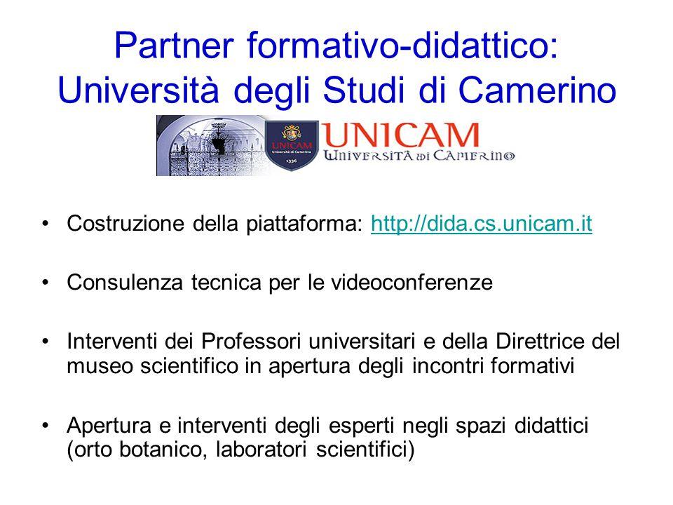 Momento di formazione curato dall'Ispettrice scolastica Sabrina Boarelli 14, 28 febbraio e 21 marzo 2014 Gli incontri oltre che in presenza si sono svolti grazie al Polo Informatico dell'Università di Camerino, partner del progetto, in videoconferenza presso tutte le scuole interessate dal Progetto.