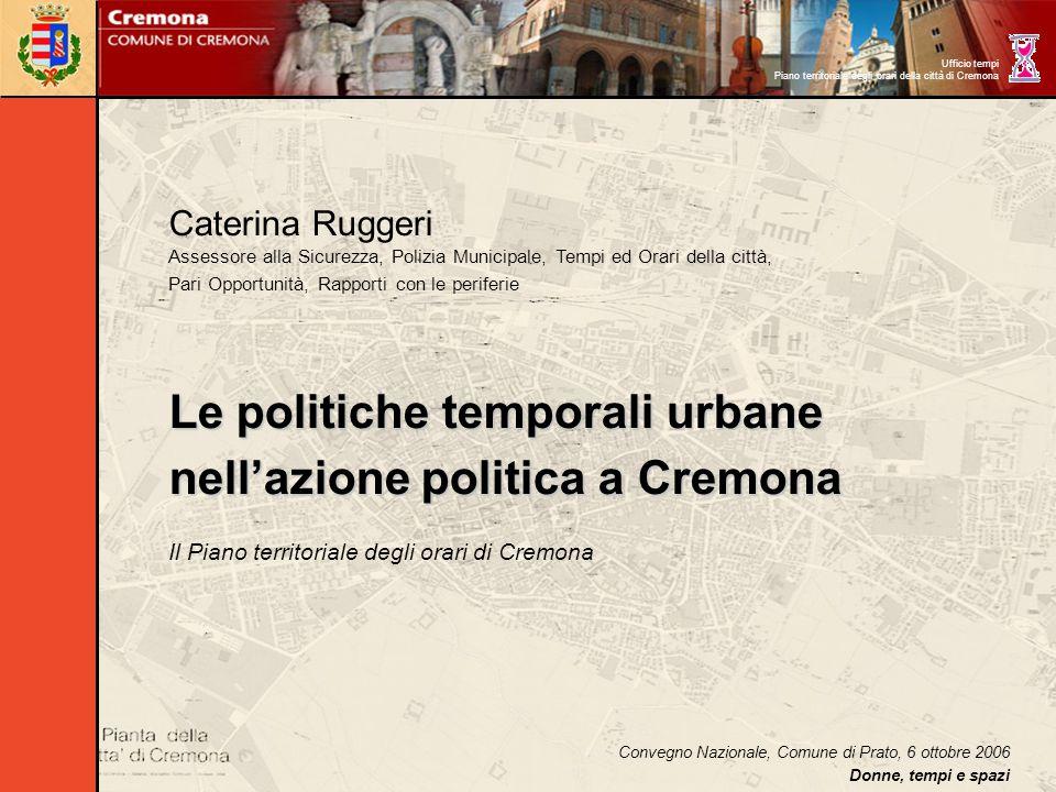 Caterina Ruggeri Assessore alla Sicurezza, Polizia Municipale, Tempi ed Orari della città, Pari Opportunità, Rapporti con le periferie Le politiche te