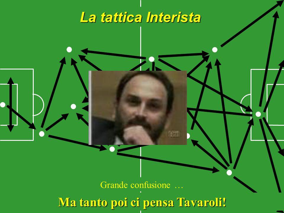 La tattica Interista Grande confusione … Ma tanto poi ci pensa Tavaroli!