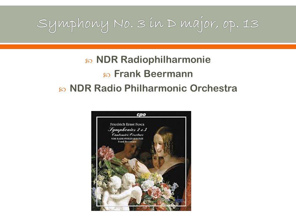  NDR Radiophilharmonie  Frank Beermann  NDR Radio Philharmonic Orchestra
