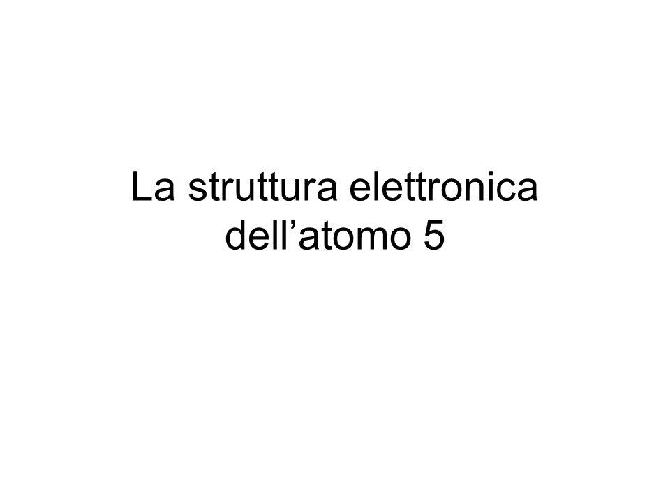 La struttura elettronica dell'atomo 5