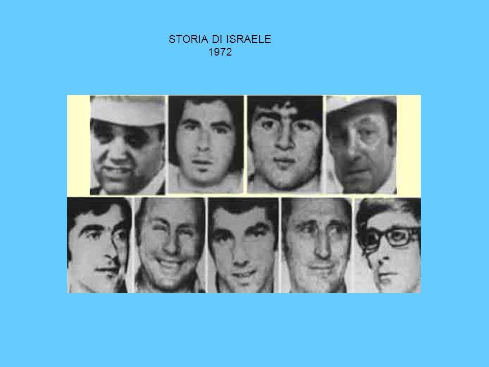 STORIA DI ISRAELE 1972