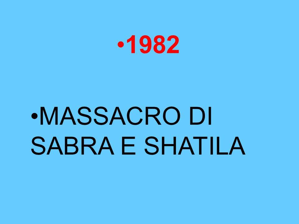 1982 MASSACRO DI SABRA E SHATILA