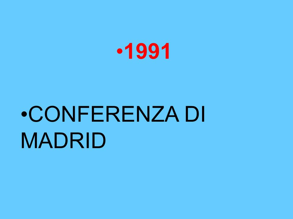 1991 CONFERENZA DI MADRID