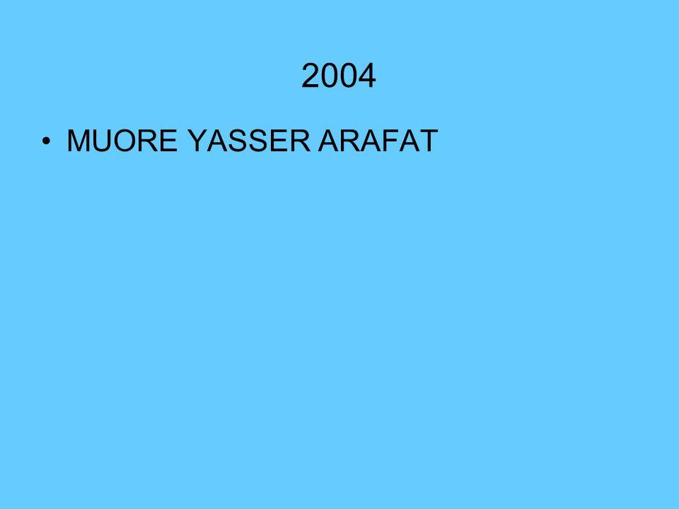 2004 MUORE YASSER ARAFAT
