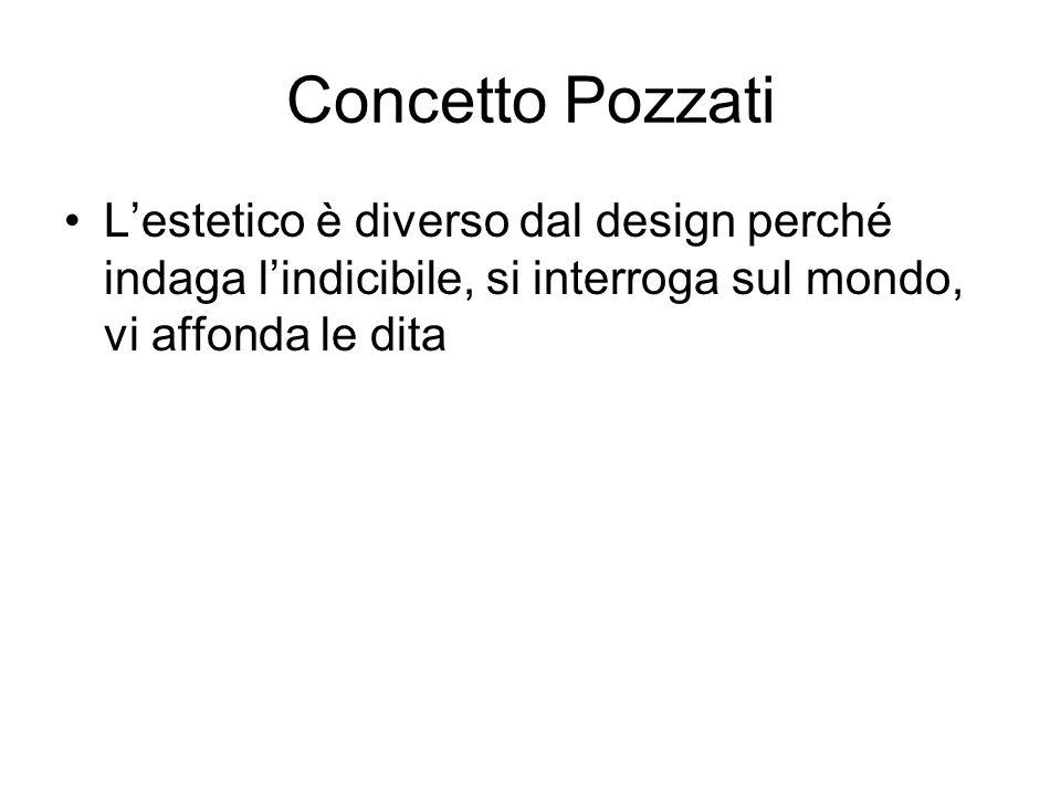 Concetto Pozzati L'estetico è diverso dal design perché indaga l'indicibile, si interroga sul mondo, vi affonda le dita