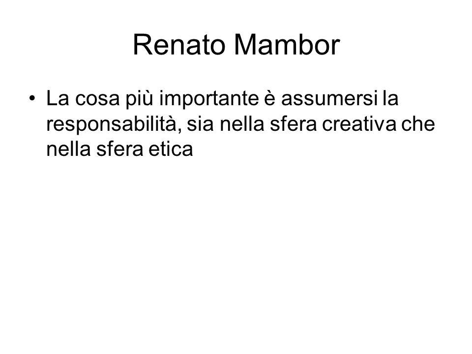 Renato Mambor La cosa più importante è assumersi la responsabilità, sia nella sfera creativa che nella sfera etica