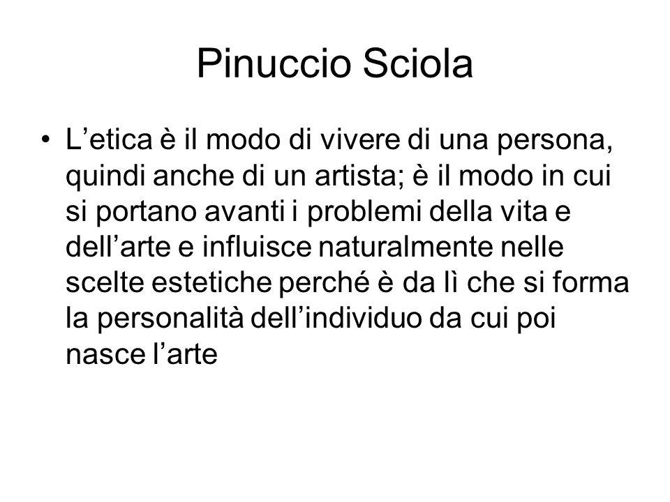 Pinuccio Sciola L'etica è il modo di vivere di una persona, quindi anche di un artista; è il modo in cui si portano avanti i problemi della vita e del