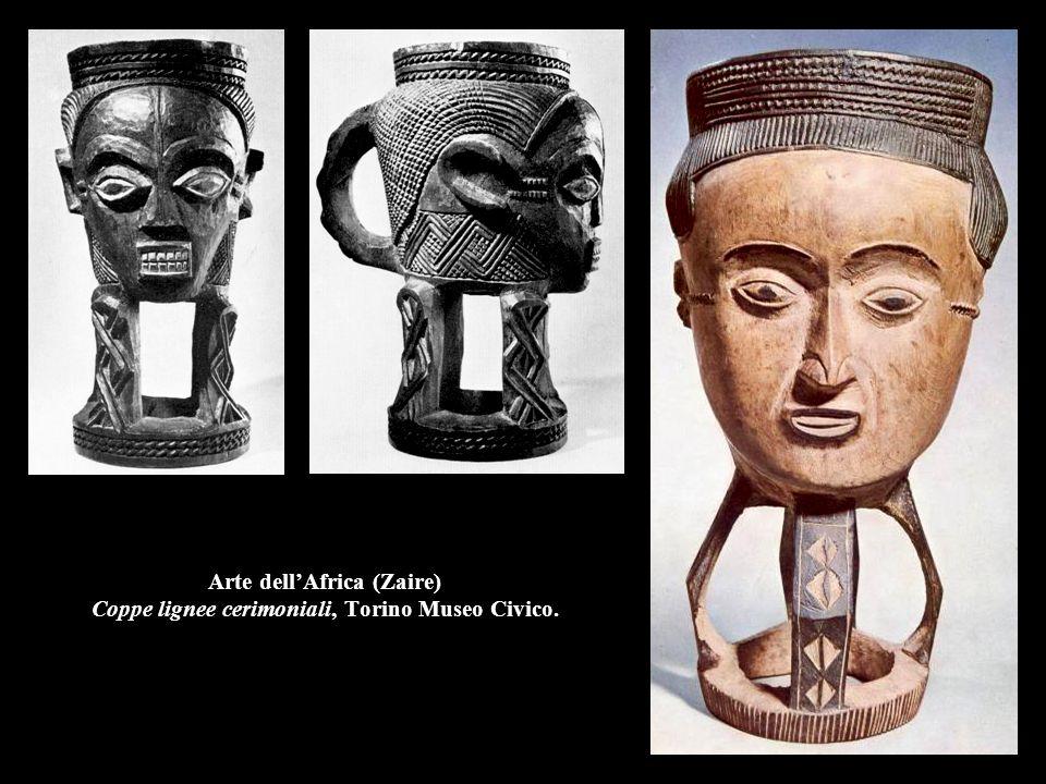 Arte dell'Africa (Zaire) Coppe lignee cerimoniali, Torino Museo Civico.