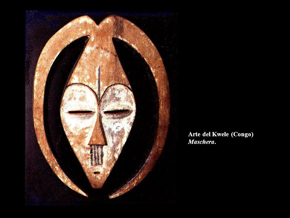 Arte del Kwele (Congo) Maschera.