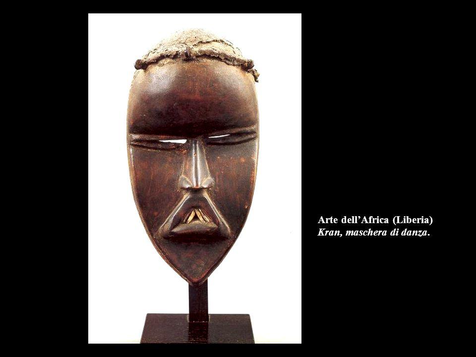 Arte dell'Africa (Liberia) Kran, maschera di danza.