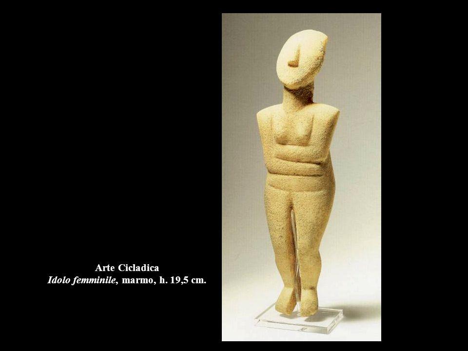 Arte Cicladica Idolo femminile, marmo, h. 19,5 cm.