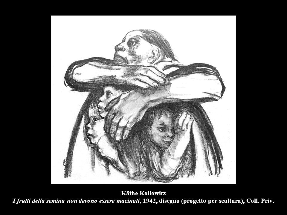 Käthe Kollowitz I frutti della semina non devono essere macinati, 1942, disegno (progetto per scultura), Coll. Priv.