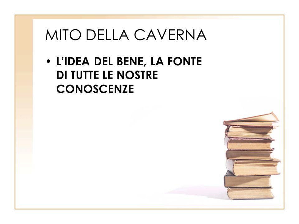 MITO DELLA CAVERNA L'IDEA DEL BENE, LA FONTE DI TUTTE LE NOSTRE CONOSCENZE