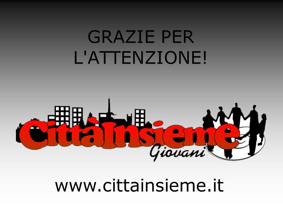 GRAZIE PER L'ATTENZIONE! www.cittainsieme.it