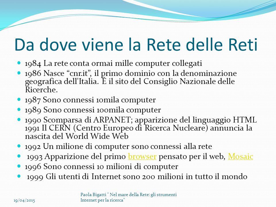 OPAC (Online Public Acces Catalogue) ITALIANI E STRANIERI E LORO FUNZIONAMENTO 19/04/2015 Paola Bigatti Nel mare della Rete: gli strumenti Internet per la ricerca