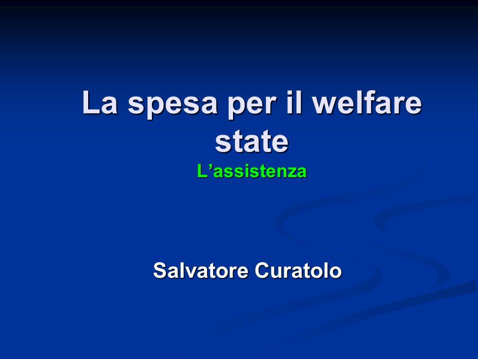 La spesa per il welfare state L'assistenza La spesa per il welfare state L'assistenza Salvatore Curatolo