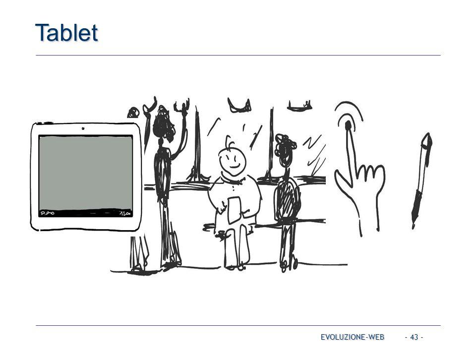 - 43 - Tablet EVOLUZIONE-WEB