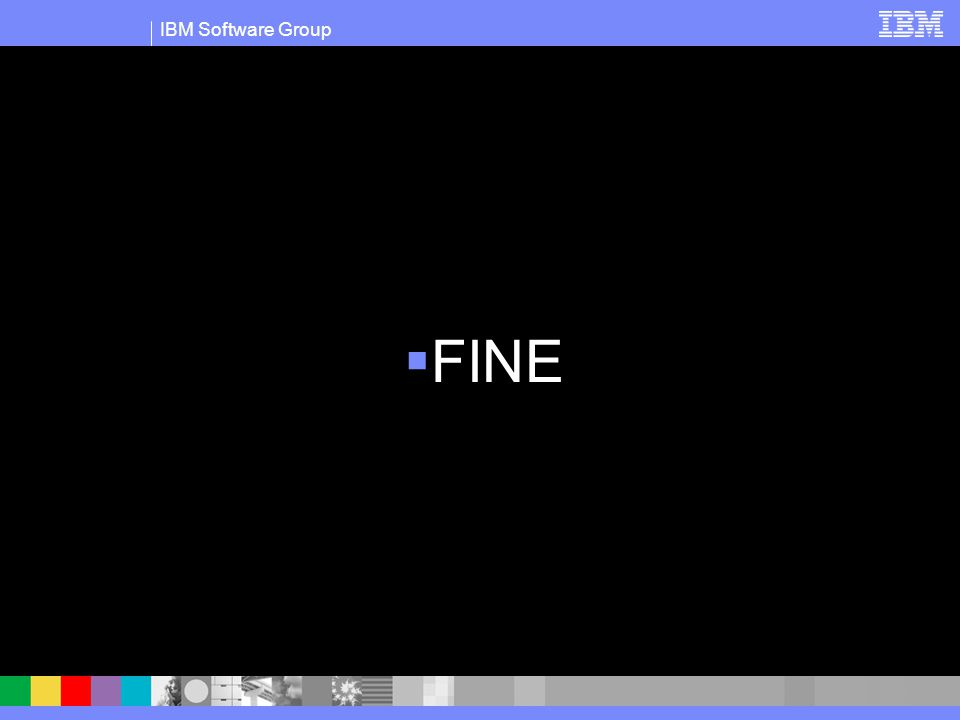 IBM Software Group  FINE