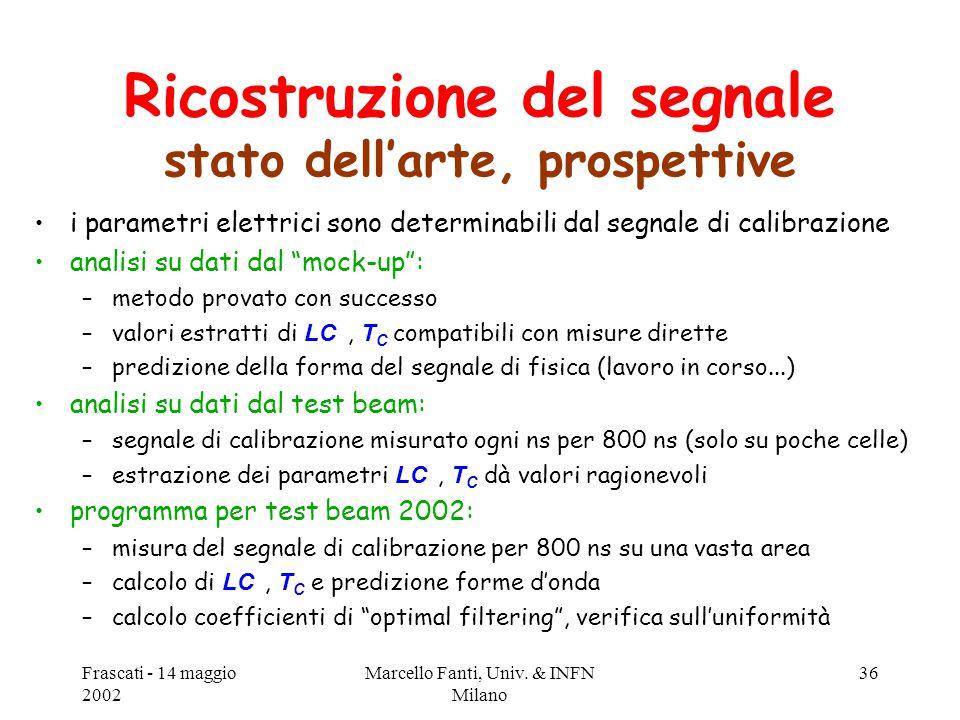 Frascati - 14 maggio 2002 Marcello Fanti, Univ.