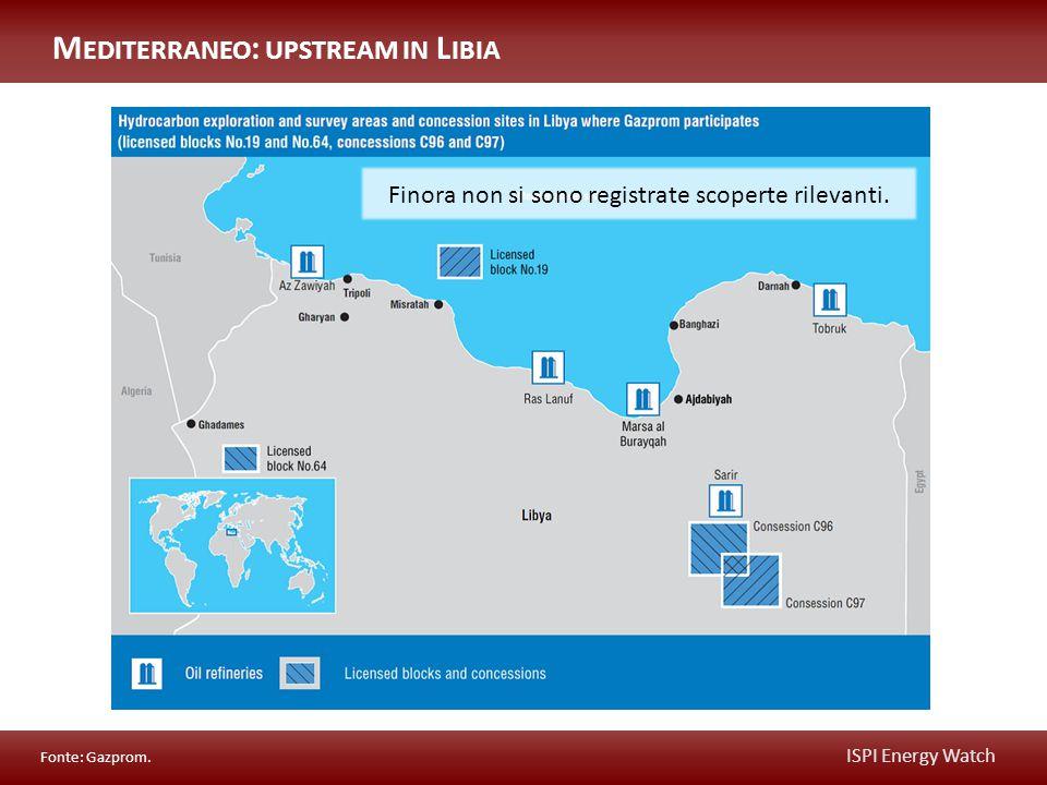 ISPI Energy Watch Il campo di El Assel è esplorato da una JV tra Sonatrach (51%) e Gazprom (49%).