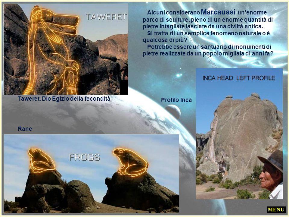 L'anfiteatro: punto di arrivo e di sosta dei visitatori Principessa egizia Testa di donna ? Molte di queste figure possono essere viste solo da un ang